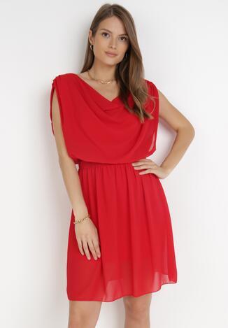 Czerwona Sukienka Amula