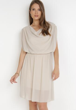 Jasnobeżowa Sukienka Amula