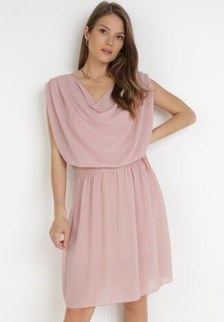 Jasnoróżowa Sukienka Amula