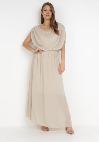 Beżowa Sukienka Zephyphise