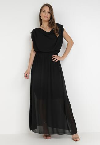 Czarna Sukienka Zephyphise