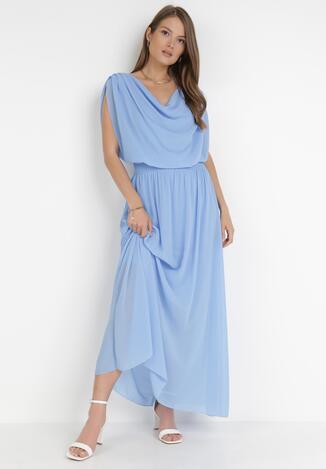 Niebieska Sukienka Zephyphise