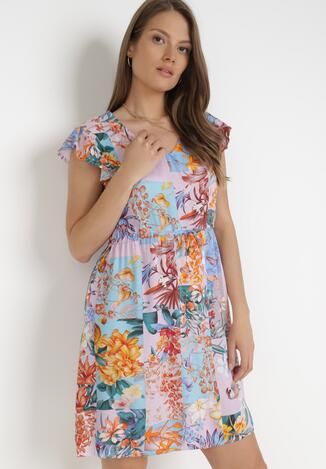 Liliowa Sukienka Sylphassea