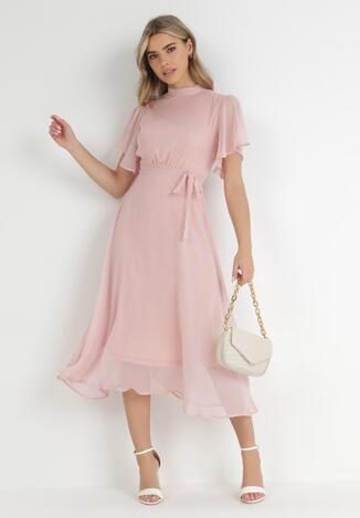 Różowa Sukienka Acsophia