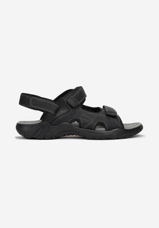 Czarne Sandały Rozikel