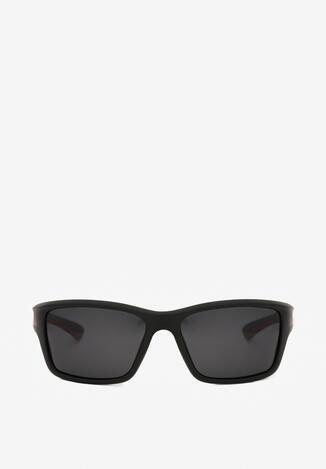 Czarno-Czerwone Okulary Przeciwsłoneczne Aubilis