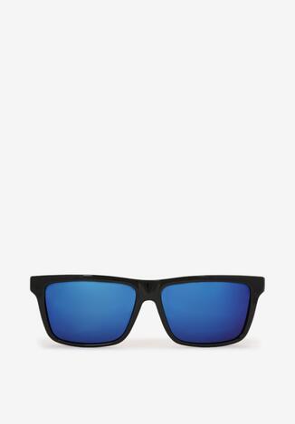 Czarno-Niebieskie Okulary Przeciwsłoneczne Amenneg