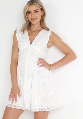 Biała Sukienka Agniga