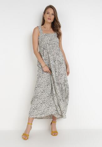 Czarno-Biała Sukienka Koulena