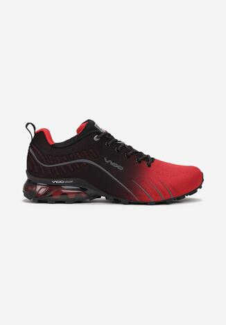 Czerwono-Czarne Buty Sportowe Auruen