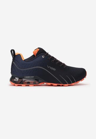 Granatowo-Pomarańczowe Buty Sportowe Auruen