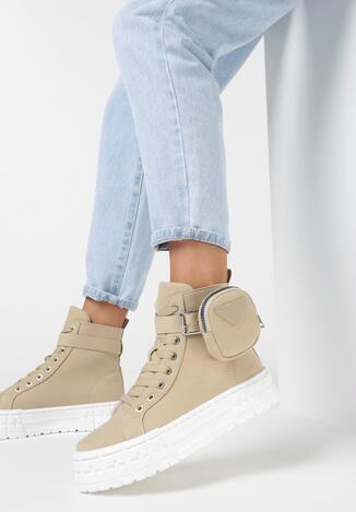 Ciemnobeżowe Sneakersy Onenn