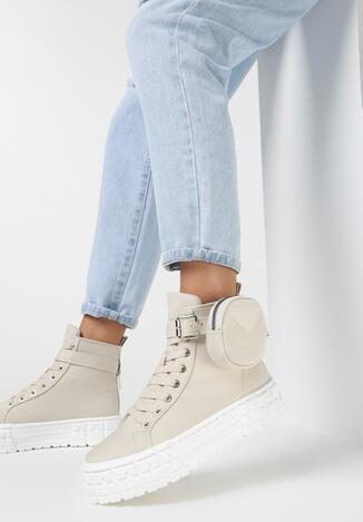 Beżowe Sneakersy Onenn