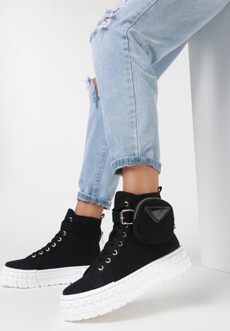 Czarne Sneakersy Onenn