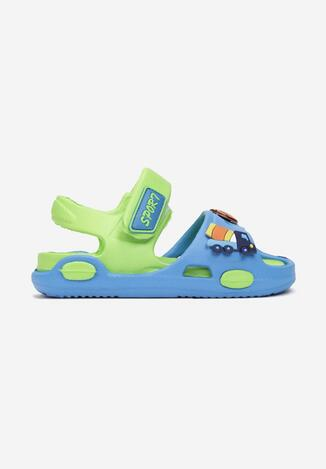 Niebiesko-Zielone Sandały Alion