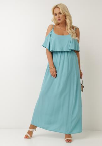Niebieska Sukienka Sterigan