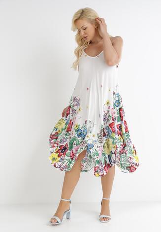 Biała Sukienka Luneri