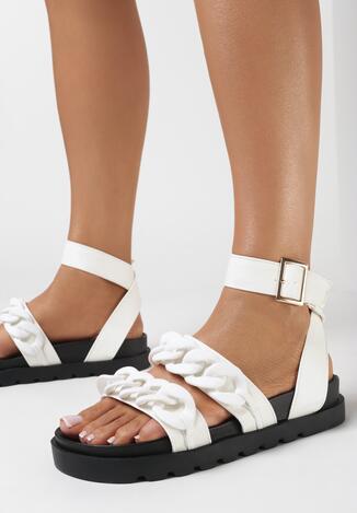 Białe Sandały Enegan