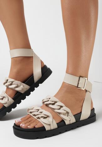 Beżowe Sandały Enegan