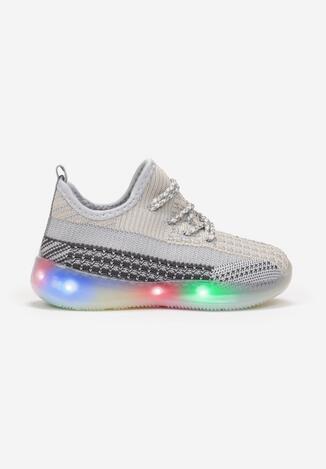 Jasnoszare Buty Sportowe LED Donion