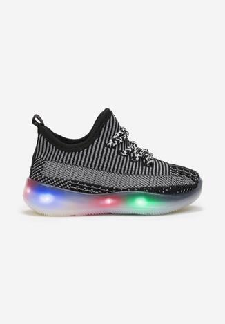 Ciemnoszare Buty Sportowe LED Trifann