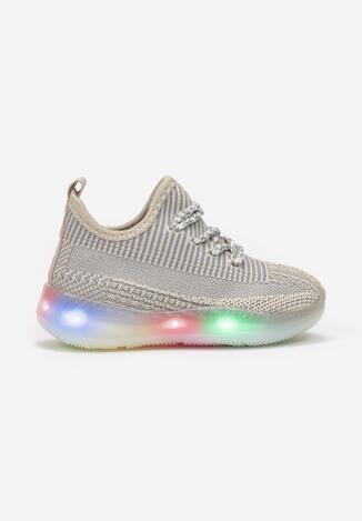Białe Buty Sportowe LED Trifann