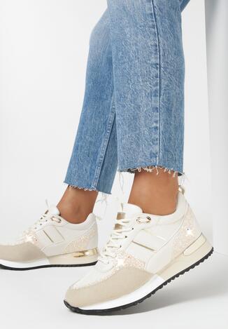 Beżowe Sneakersy Isilynor