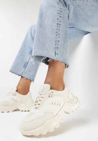 Beżowe Sneakersy Kyloth
