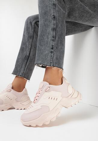 Różowe Sneakersy Kyloth