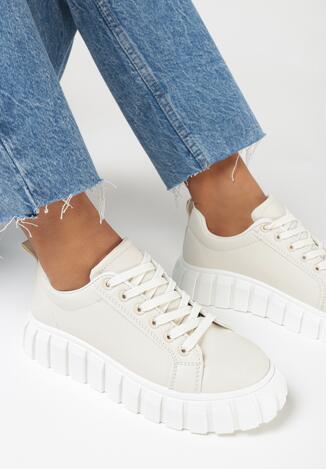 Beżowe Sneakersy Ruseld
