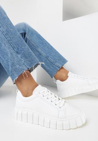 Białe Sneakersy Ruseld