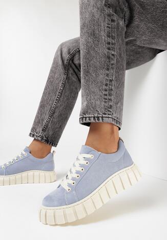 Niebieskie Sneakersy Palynen