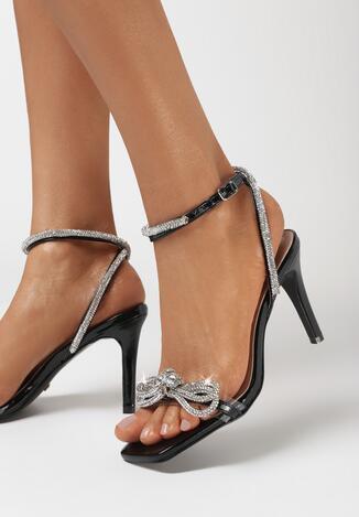 Czarne Sandały Mese
