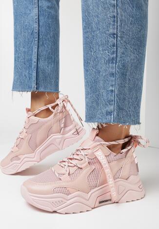Różowe Sneakersy Ceerowen