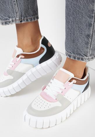 Biało-Szare Sneakersy Chromo