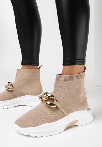 Ciemnobeżowe Sneakersy Prowean