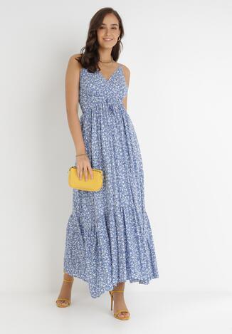Niebieska Sukienka Paduin