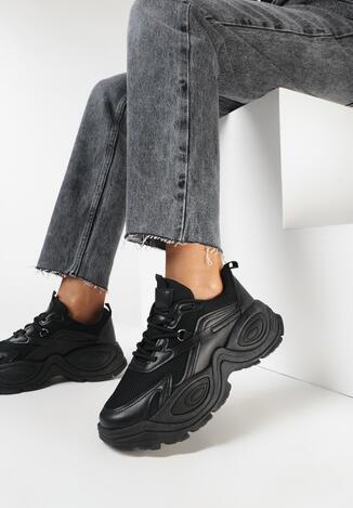 Czarne Sneakersy Phaevy