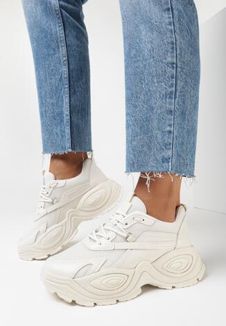 Beżowe Sneakersy Phaevy