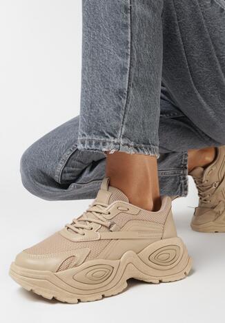 Ciemnobeżowe Sneakersy Phaevy