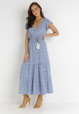 Niebieska Sukienka Cadulenn