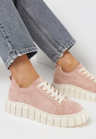 Różowe Sneakersy Sthireiade