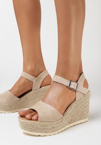 Beżowe Sandały Nuno