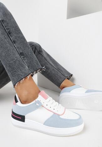 Biało-Niebieskie Sneakersy Xeinco