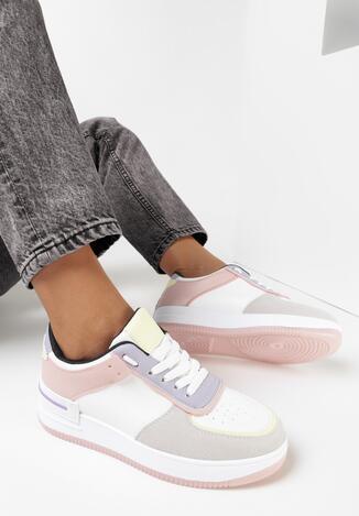 Biało-Różowe Sneakersy Xeinco