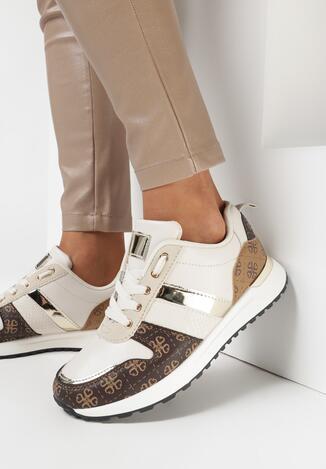 Beżowe Sneakersy Veialatha