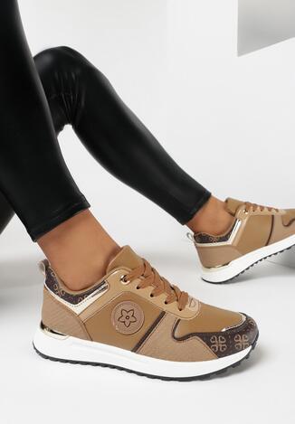 Ciemnobeżowe Sneakersy Phiathomy