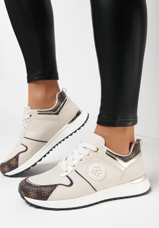 Beżowe Sneakersy Phiathomy