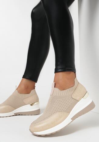 Beżowe Sneakersy Phaktamy