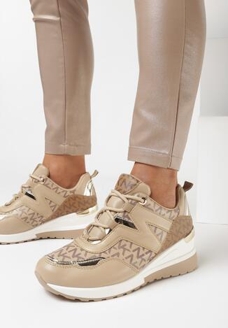 Ciemnobeżowe Sneakersy Sthixia